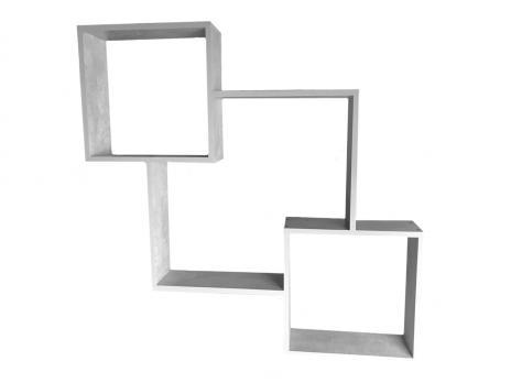 """Полка навесная куб """"Цемент"""""""